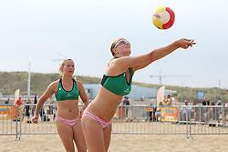 20160723 NED: NK Beachvolleybal 2016, Scheveningen <br />Ana Rekar, Jessica Smit<br />©2016-FotoHoogendoorn.nl / Pim Waslander