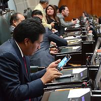 Toluca, México (Octubre 05, 2016).- Carlos Sánchez Sánchez, Diputado Local Por el PT,  durante la sesión deliberante del tercer periodo ordinario en la Cámara de diputado del Estado de México. Agencia MVT / Arturo Hernández.