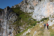 Hiking down from the village of Tresviso, in the Picos de Europa national park, a hamlet famous for its goat's cheese.