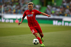 August 15, 2017 - Lisbon, Portugal - Steaua's forward Catalin Golofca in action during the UEFA Champions League play-offs first leg football match between Sporting CP and FC Steaua Bucuresti at the Alvalade stadium in Lisbon, Portugal on August 15, 2017. Photo: Pedro Fiuza (Credit Image: © Pedro Fiuza via ZUMA Wire)