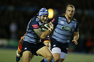Tom James of Cardiff Blues.Guinness Pro14 rugby match, Cardiff Blues v Dragons at the Cardiff Arms Park in Cardiff, South Wales on Friday 6th October 2017.<br /> pic by Andrew Orchard, Andrew Orchard sports photography.