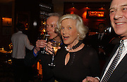 Honor Blackman and Nickolas Grace, The after show party following the UK Premiere of 'The White Countess', at China Tang, Park Lane London. March 19  2006. London. ONE TIME USE ONLY - DO NOT ARCHIVE  © Copyright Photograph by Dafydd Jones 66 Stockwell Park Rd. London SW9 0DA Tel 020 7733 0108 www.dafjones.com