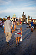 Romance on Charles Bridge; Prague, Czech Republic.