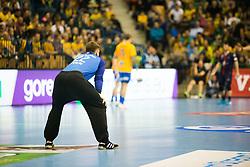 Klemen Ferlin during handball match between RK Celje Pivovarna Lasko (SLO) and Paris Saint-Germain HB (FRA) in VELUX EHF Champions League 2018/19, on February 24, 2019 in Arena Zlatorog, Celje, Slovenia. Photo by Peter Podobnik / Sportida
