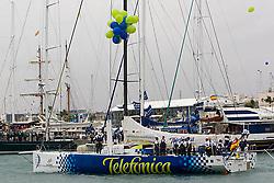 © Sander van der Borch. Alicante, 11 October 2008. Start of the Volvo Ocean Race. Telefonica blue.