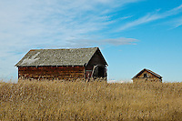 Architecture, barn on prairie.<br />