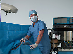 anesthesiologist with a patient