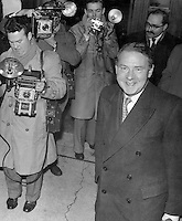 British photographer Terry Fincher (left), seen on assignment in London in the 1950's using his old large format camera.