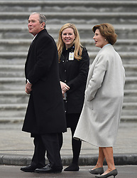 Laura Bush and President George W. Bush attends the 58th Presidential Inauguration. Trump being sworn in as the 45th president of the United States. January 20, 2017 in Washington, DC. Photo by Lionel Hahn/ABACAPRESS.COM