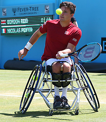 June 22, 2018 - London, United Kingdom - Gordon Reid  in action .during Fever-Tree Championships Wheelchair Event match between Gordon Reid  against Nicolas Peifer (FRA)  at The Queen's Club, London, on 22 June 2018  (Credit Image: © Kieran Galvin/NurPhoto via ZUMA Press)
