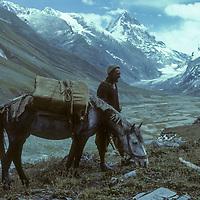 Balti horseman and Upper Warwan Valley.