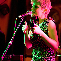 Sandra and the Memory Machine perform live at the In The City festival, Bedlam, Manchester, UK, 2008-10-05
