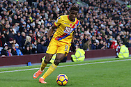 Wilfried Zaha of Crystal Palace in action. Premier League match, Burnley v Crystal Palace at Turf Moor in Burnley , Lancs on Saturday 5th November 2016.<br /> pic by Chris Stading, Andrew Orchard sports photography.
