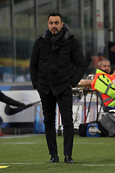 January 19, 2019 - Milan, Milan, Italy - head coach of US Sassuolo Roberto De Zerbi during the serie A match between FC Internazionale and US Sassuolo at Stadio Giuseppe Meazza on January 19, 2019 in Milan, Italy. (Credit Image: © Giuseppe Cottini/NurPhoto via ZUMA Press)
