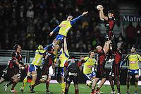 Illustration Touche - 28.12.2014 - Lyon Olympique / Clermont - 14eme journee de Top 14 <br />Photo : Jean Paul Thomas / Icon Sport
