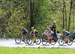 22.04.2019, Kufstein, AUT, Tour of the Alps, 1. Etappe, Kufstein - Kufstein, 144km, im Bild // v.l. Emil Dima (ROU, Giotti Victoria), Maximilian Kuen (AUT, Team Vorarlberg), Patrick Gamper (AUT, Tirol KTM Cycling Team), Matthias Krizek (AUT, Team Felbermayr Simplon Wels) Ausreissergruppe des Tages during the 1st Stage of the Tour of the Alps Cyling Race from Kufstein to Kufstein (144km) in in Kufstein, Austria on 2019/04/22. EXPA Pictures © 2019, PhotoCredit: EXPA/ Reinhard Eisenbauer