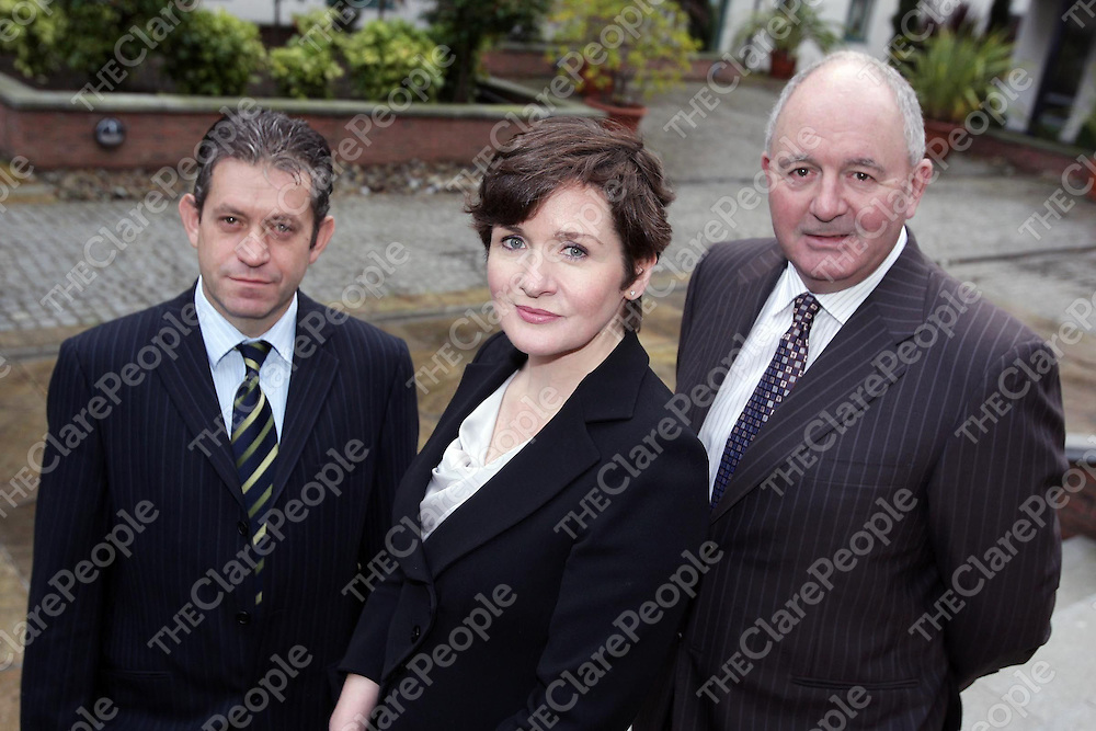 Pictured from left to right are Sean Kelly, Director, Joan Williams, Senior Business Development Manager, and Pearse Farrell, Partner, Corporate Restructuring & Insolvency at FGS pictured at the launch of 'Debt Manager', its new Debt Restructuring Service which helps to put individuals back in control of their debt to avoid bankruptcy
