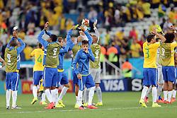 Seleção Brasileira na estréia da Copa do Mundo 2014, na Arena Corinthians, em São Paulo. FOTO: Jefferson Bernardes/ Agência Preview
