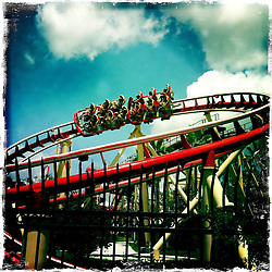 Hollywood Rip Ride Rockit at Universal Orlando Resort. Orlando holiday 2012. Photo taken with the Hipstamatic photo application on Apple iPhone 4.