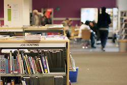 Job hunting section of university library UK