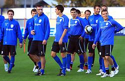 Anton Zlogar (16), Branko Ilic (18), Aleksander Radosavljevic, Bostjan Cesar (5) and Darijan Matic (15) at practice of Slovenian men National team, on October 13, 2008, in Domzale, Slovenia.  (Photo by Vid Ponikvar / Sportal Images)