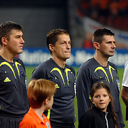 NLD/Amsterdam/20061115 - Voetbal, Nederland - Engeland, scheidsrechters, Lubos Michel, marian Ruzbarsky en Vlasislav Laskovsky