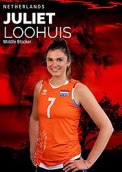 Juliët Lohuis of Netherlands, Photoshoot selection of Orange women's volleybal team season 2021on may 12, 2021 in Arnhem, Netherlands (Photo by RHF Agency/Ronald Hoogendoorn)