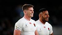 Rugby Union - 2019 Rugby World Cup - Semi-Final: England vs. New Zealand<br /> <br /> Owen Farrell and Manu Tuilagi of England at International Stadium Yokohama, Kanagawa Prefecture, Yokohama City.<br /> <br /> COLORSPORT/LYNNE CAMERON