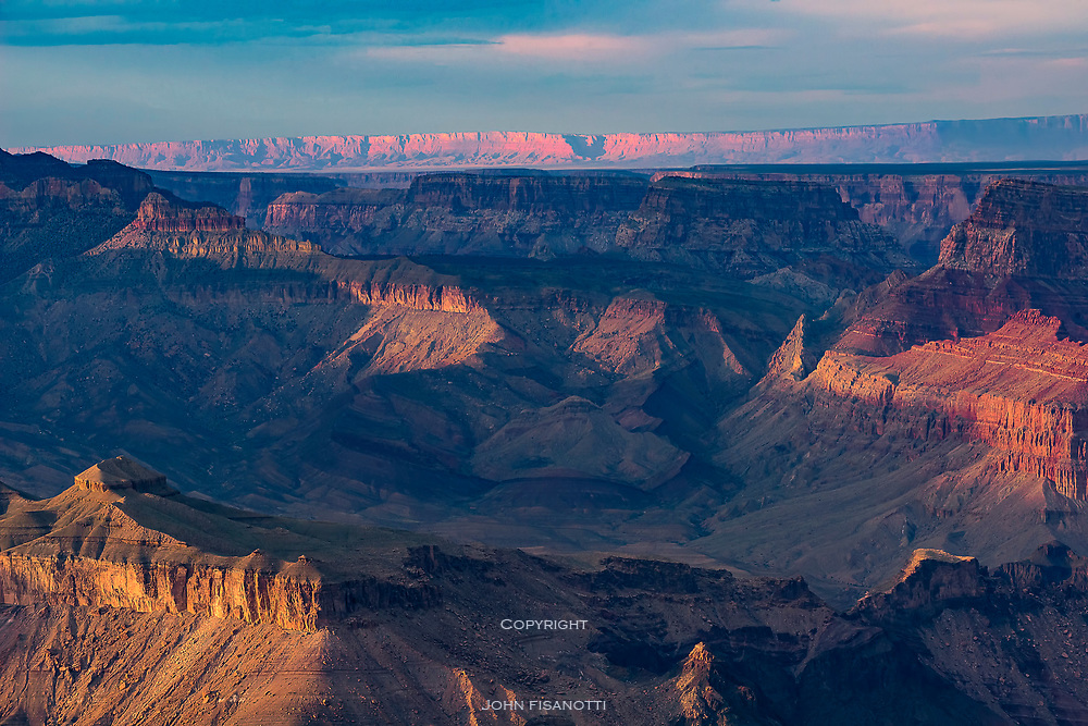 Looking Across at the Echo Cliffs from the South Rim of the Grand Canyon