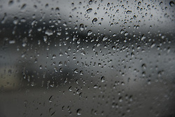 November 18, 2018 - Chalkida, Euboea, Greece - Raindrops on the window of a car in Nea Artaki, Chalkida on Euboea, Greece on November 18, 2018. (Credit Image: © Wassilios Aswestopoulos/NurPhoto via ZUMA Press)