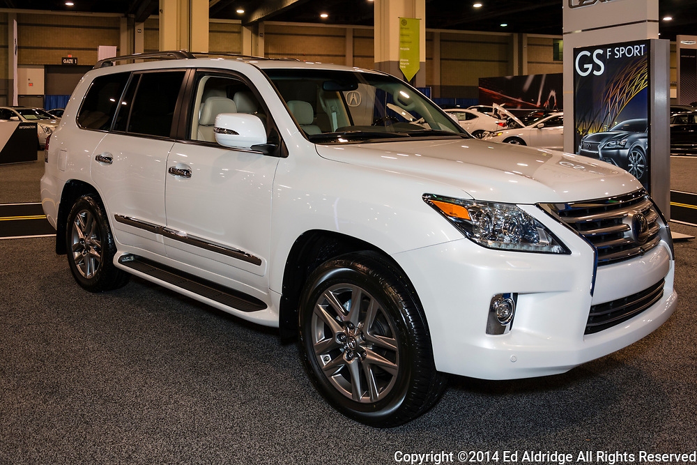 CHARLOTTE, NORTH CAROLINA - NOVEMBER 20, 2014: Lexus LX 570  on display during the 2014 Charlotte International Auto Show at the Charlotte Convention Center.