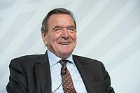 05 SEP 2016, BERLIN/GERMANY:<br /> Gaerhard Schroeder, SPD, Budneskanzler a.D., Jahreskonferenz des Wirtschaftsforums der SPD e.V., Hotel Radisson Blue<br /> IMAGE: 20160905-01-178<br /> KEYWORDS: Gerhard Schröder