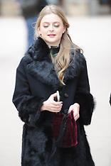 Anna Baryshnikov wears a warm winter jacket - 25 Jan 2018