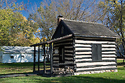 Missouri MO USA, An old cabin in Kimmswick, MO. October 2006