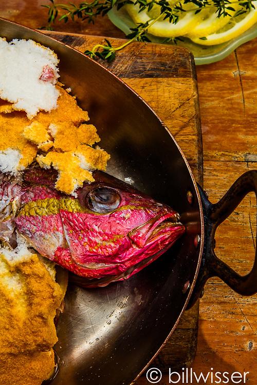 Fish in salt crust