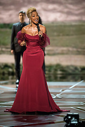 March 4, 2018 - Hollywood, California, U.S. - Mary J. Blige, Oscar nominee for actress in a supporting role and for music (original song), performs at The 90th Oscars at the Dolby Theatre in Hollywood.<br /> (Credit Image: ? Aaron Poole/AMPAS via ZUMA Wire/ZUMAPRESS.com)