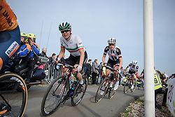 Elena Cecchini crests the VAMberg for the second time at Ronde van Drenthe 2017. A 152 km road race on March 11th 2017, starting and finishing in Hoogeveen, Netherlands. (Photo by Sean Robinson/Velofocus)