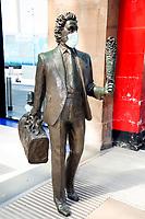 Ken Dodd Statue at liverpools lime street station