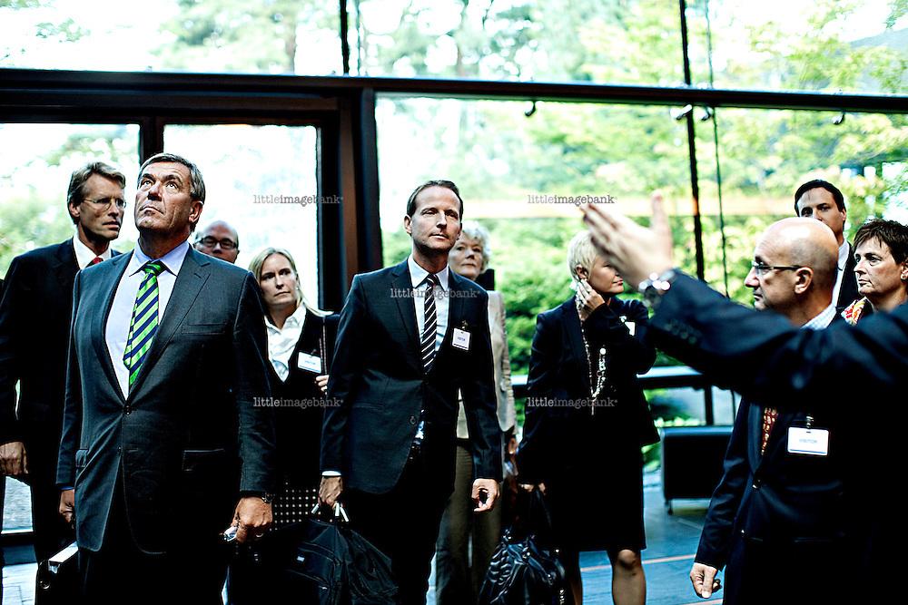 Geneva, Switzerland, 30.08.2010. Norwegian multi billionaire Stein Erik Hagen visits the headquarters of the World Economic Forum alongside other prominent Norwegian politicians and desicionmakers. Photographs by Christopher Olssøn