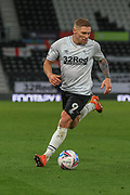 Martyn Waghorn of Derby County  (9) runs with the ball during the EFL Sky Bet Championship match between Derby County and Cardiff City at the Pride Park, Derby, England on 28 October 2020.