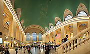 Multiple stitched-image panorama of the main hall of the Grand Central Station, Manhattan, New York
