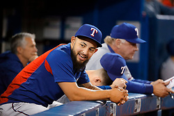 April 29, 2018 - Toronto, ON, U.S. - TORONTO, ON - APRIL 29: Texas Rangers Second base Rougned Odor (12) (currently on the DL) in the Texas dugout during the MLB game between the Texas Rangers and the Toronto Blue Jays on April 29, 2018 at Rogers Centre in Toronto, ON. (Photo by Jeff Chevrier/Icon Sportswire) (Credit Image: © Jeff Chevrier/Icon SMI via ZUMA Press)