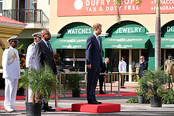 Kensington Palace handout photo of Prince Harry at Port Zante after arriving on the island of St Kitts for the second leg of his Caribbean tour.