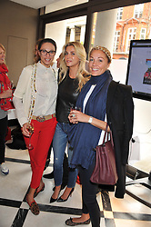 Left to right, LILLY BECKER, STEPHANIE DORRANCE and CAROLINE FLEMING at a lunch to launch Cash & Rocket on Tour 2013 hosted by Julia Brangstrup in aid of Orpan Aid and Shine on Sierrra Leone held at Banca, 40 North Audley Street, London on 29th April 2013.