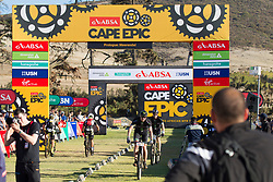 Adam Foster and Martin Dreyer during the Prologue of the 2017 Absa Cape Epic Mountain Bike stage race held at Meerendal Wine Estate in Durbanville, South Africa on the 19th March 2017<br /> <br /> Photo by Greg Beadle/Cape Epic/SPORTZPICS<br /> <br /> PLEASE ENSURE THE APPROPRIATE CREDIT IS GIVEN TO THE PHOTOGRAPHER AND SPORTZPICS ALONG WITH THE ABSA CAPE EPIC<br /> <br /> {ace2016}