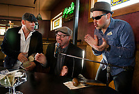 """Patrick's Pub and Eatery with the """"Dueling Pianos"""" on stage.  Karen Bobotas Photographer"""