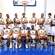 Fenerbahce Ulker's team group seen during their Euroleague Media Day at Fenerbahce Ulker Sports Arena in Istanbul, Turkey, Wednesday, September 26, 2012. Photo by TURKPIX