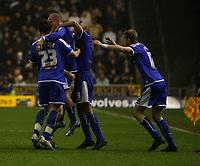 Photo: Steve Bond/Sportsbeat Images.<br />Wolverhampton Wanderers v Leicester City. Coca Cola Championship. 22/12/2007. Iain Hume celebrates