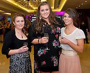 Sinead Groarke, Maree, Laura Finn, Clarinbridge and Bec McCafferty, Carnmore, at the Take Me Out for Cancer Care West in the Sathill Hotel, Galway . Photo:Andrew Downes.