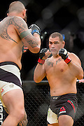 LAS VEGAS, NV - JULY 9:  Cain Velasquez fights against Travis Browne during UFC 200 at T-Mobile Arena on July 9, 2016 in Las Vegas, Nevada. (Photo by Cooper Neill/Zuffa LLC/Zuffa LLC via Getty Images) *** Local Caption *** Cain Velasquez